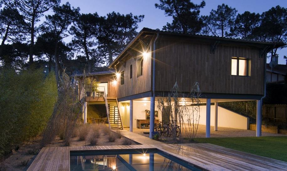 Las casas sobre pilotes en la arquitectura moderna